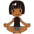 Woman in Lotus Position: Medium-Dark Skin Tone on emojidex 1.0.34