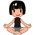 Woman in Lotus Position: Medium-Light Skin Tone on emojidex 1.0.34