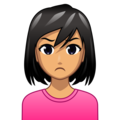 Woman Pouting: Medium Skin Tone on emojidex 1.0.34