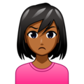 Woman Pouting: Medium-Dark Skin Tone on emojidex 1.0.34