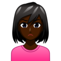 Woman Pouting: Dark Skin Tone on emojidex 1.0.34