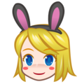 Woman With Bunny Ears, Type-1-2 on emojidex 1.0.34