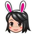 People With Bunny Ears, Type-3 on emojidex 1.0.34