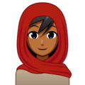 Woman With Headscarf: Medium-Dark Skin Tone on emojidex 1.0.34