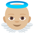Baby Angel: Medium-Light Skin Tone on EmojiOne 4.0
