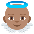 Baby Angel: Medium Skin Tone on EmojiOne 4.0