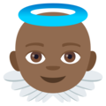 Baby Angel: Medium-Dark Skin Tone on EmojiOne 4.0