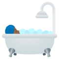 Person Taking Bath: Medium-Dark Skin Tone on EmojiOne 4.0