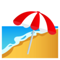 Beach With Umbrella on EmojiOne 4.0