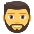 Man: Beard on EmojiOne 4.0