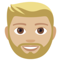 Bearded Person: Medium-Light Skin Tone on EmojiOne 4.0