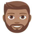 Man: Medium Skin Tone, Beard on EmojiOne 4.0
