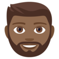 Man: Medium-Dark Skin Tone, Beard on EmojiOne 4.0