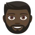 Bearded Person: Dark Skin Tone on EmojiOne 4.0