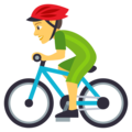 Person Biking on EmojiOne 4.0