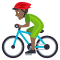 Person Biking: Medium-Dark Skin Tone on EmojiOne 4.0