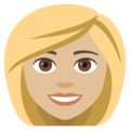 Blond-Haired Woman: Medium-Light Skin Tone on EmojiOne 4.0