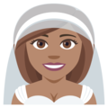 Bride With Veil: Medium Skin Tone on EmojiOne 4.0