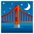 Bridge at Night on EmojiOne 4.0