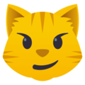 Cat Face With Wry Smile on EmojiOne 4.0