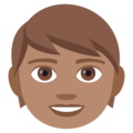 Child: Medium Skin Tone on EmojiOne 4.0
