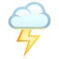 Cloud With Lightning on EmojiOne 4.0