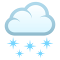 Cloud With Snow on EmojiOne 4.0