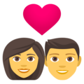 Couple With Heart: Woman, Man on EmojiOne 4.0