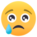 Crying Face on EmojiOne 4.0