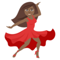 Woman Dancing: Medium-Dark Skin Tone on EmojiOne 4.0