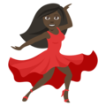 Woman Dancing: Dark Skin Tone on EmojiOne 4.0