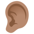 Ear: Medium Skin Tone on EmojiOne 4.0