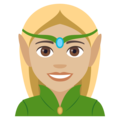 Elf: Medium-Light Skin Tone on EmojiOne 4.0