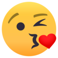Face Blowing a Kiss on EmojiOne 4.0