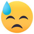 Downcast Face With Sweat on EmojiOne 4.0