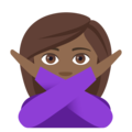 Person Gesturing No: Medium-Dark Skin Tone on EmojiOne 4.0
