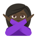 Person Gesturing No: Dark Skin Tone on EmojiOne 4.0