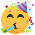 Partying Face on EmojiOne 4.0