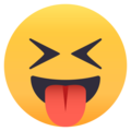 Squinting Face With Tongue on EmojiOne 4.0