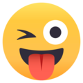Winking Face With Tongue on EmojiOne 4.0