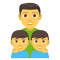 Family: Man, Boy, Boy on EmojiOne 4.0