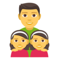Family: Man, Girl, Girl on EmojiOne 4.0