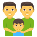 Family: Man, Man, Boy on EmojiOne 4.0