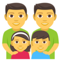 Family: Man, Man, Girl, Boy on EmojiOne 4.0