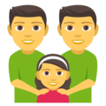 Family: Man, Man, Girl on EmojiOne 4.0
