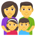 Family: Man, Woman, Girl, Boy on EmojiOne 4.0