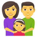 Family: Man, Woman, Girl on EmojiOne 4.0