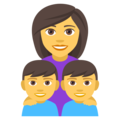 Family: Woman, Boy, Boy on EmojiOne 4.0
