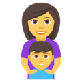 Family: Woman, Boy on EmojiOne 4.0