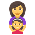 Family: Woman, Girl on EmojiOne 4.0